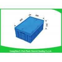 Virgin PP Plastic Folding Crate , Collapsible Plastic Storage Bins ForTransport Turnover Storage Manufactures