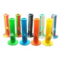 China 100% Food Grade Silicone Smoking Water Pipes Bongs Portable Hookah With Glass Bowl on sale