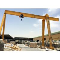 Electric Hoist 15 Ton Gantry Crane Single Beam For Marble Slabs Stone Factory Manufactures