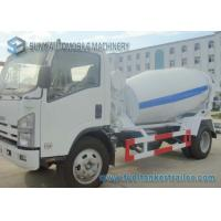 Isuzu 4CBM Concrete Truck Mixer With Interpump Hydraulic Pump And Motor Manufactures