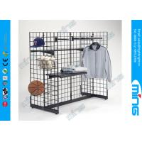 Wire Heavy Duty Gridwall Display Racks H Gondola Unit for Clothing Manufactures