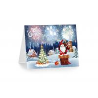 3D 12x17cm Greeting Card Lenticular Printing Services  With Customized X-mas Images Manufactures