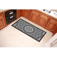 Black And Grey Decorative Door Mats 40x60cm 40x80cm Sizes For Home Entrance Manufactures