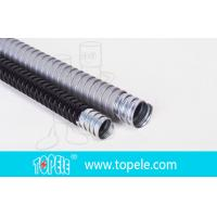 Quality Electrica Grey Galvanized Steel PVC Flexible Conduit And Fittings for sale