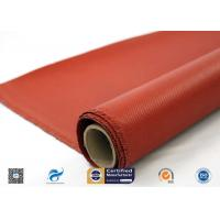 China 0.9mm Silicone Coated Fiberglass Fabric For Welding Tear Resistance on sale