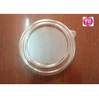 20oz 125mm PET Material Salad Bowl Lid With A Ear / Transparent Manufactures