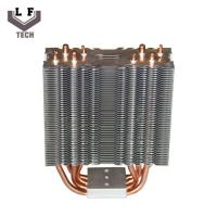 Brass Four Copper Pipe Heat Sinks Metal Stamping Parts Copper  Fin Heat Sinks Manufactures