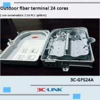 Poled Mounted Fiber Terminal Box , ABS / PC Material Cable FTTH Termination Box For CATV Networks Manufactures