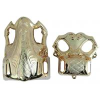 Model 4# LG Funeral Products , Parts Of A Coffin Light Gold Color Traditional Design Manufactures