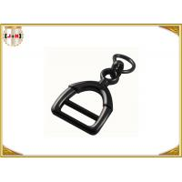 Zinc Alloy Metal Shoe Buckles Clips With D Ring Custom Black Color Manufactures