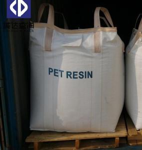 China Large One Ton PP FIBC Bulk Bags Baffle Ton Bag White Color For Chemical Powder on sale