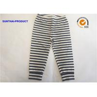 White Black Plain Baby Clothes 100% Cotton Y.D Striped Baby Leggings For Fall / Winter Manufactures