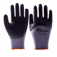 Latex Coated Gloves Crinkle and Smooth Finished Work Safety Gloves Manufactures