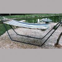 Hammock, Made of Canvas, with Blue/White Stripes, Measures 200 x 90cm Manufactures