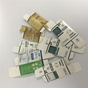 Custom Printed Small Box 10ml 30ml essential oil bottle CBD oil dropper bottle packaging paper box Manufactures