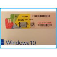 Windows 10 pro 32 Bit / 64 Bit Product Key Code Microsoft Windows 10 Pro Software with Silver scratch off label Manufactures