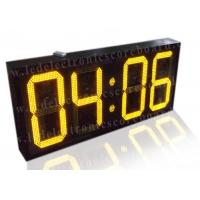 20 Inch Yellow Color Commercial Digital Clock , Led Display Clock 88 / 88 Format Manufactures
