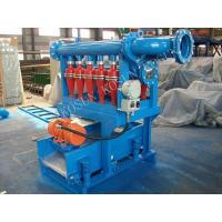 China Drilling Mud Desilter separate clay and fine sand power in range of 0.0006 - 0.0016 inch on sale