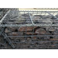 Welded Hot Dip Galvanized Gabion Box Mesh with 4 . 0 mm Daimeter Stone Cages Manufactures