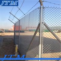 [China factory]Galvanized steel pipe chain link fence Manufactures