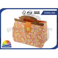 Printing Handbag Shaped Wrapping Paper Gift Bag with Die-cut Handle , Eco-friendly Manufactures