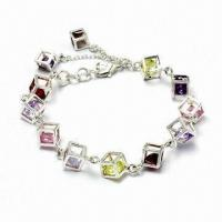 Silver/Brass Charm Bracelet, Customized Designs Accepted Manufactures