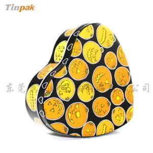 China Small heart shape cookie tin box on sale