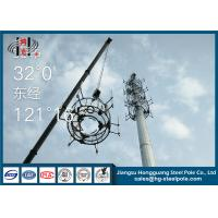 China 30m Height Telecommunication Towers Flange Connection For Broadcasting With Platforms on sale