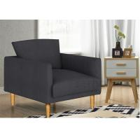 Casual Stylish Upholstered Accent Chairs Solid Wood Fabric For  Living Room Manufactures