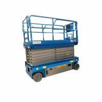 One Man Aerial Work Portable Scissor Lift , Scissor Hydraulic Lift High Safety Manufactures