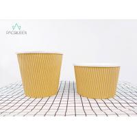 Ripple Paper Brown Takeaway Food Containers Soup Cups Eco - Friendly Manufactures