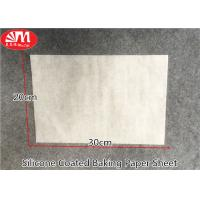 China Waterproof Silicone Baking Paper Sheets 0.045-0.05mm Thickness Withstand Higher Temp on sale