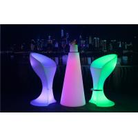 PE Plastic Full Color Led Glow Furniture With Metal Treadle / LED Bar Stool Manufactures