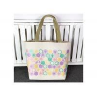 China Customized Cotton Canvas Tote Bag , Organic Cotton Tote Bags Plain Woven Fabric on sale