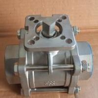 Quality 3-pc stainless steel ball valves full port 1000wog BSPP NPT ISO-5211 DIRECT MOUNTING PAD for sale