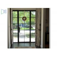 Buy cheap Powder Coating Aluminium Casement Door With Decoration Bar Vision from wholesalers