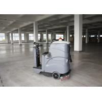 Smaller Size Bigger Cleaning Width Gray Color Ride On Floor Scrubber Dryer For Zoom Manufactures
