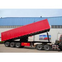 High Efficiency 3X16 TONS Semi Tipper Trailer Dump Truck For Mining Industry Manufactures