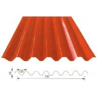 Red Wall Decoration metal roof panels building material YX35-125-750 Manufactures