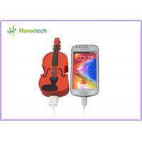Quality PVC Unique Guitar Mobile Battery Backup Charger Universal USB Compact for sale