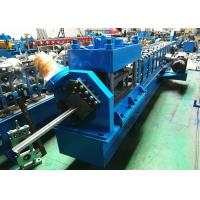 """Quality 2"""" 3"""" Garage Door Guide Rail Roll Former PLC Controlled With Bending Machine for sale"""