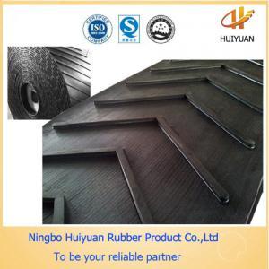 L Chevron Conveyor Rubber Belt for conveying Concrete (EP400/3) Manufactures