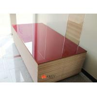 Red Painted Sparkling Silver 20mm / 25mm MDF Particle Board For Interior Decoration ​ ​ Manufactures