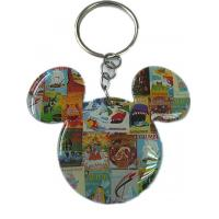 Acrylic metal keychains with cartoon Logo Mickey horse for kids Souvenir gifts Manufactures