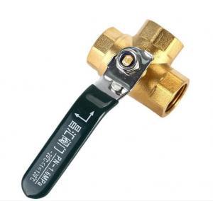 China 0.8MPa FXF Nickel Plated 3 Way 3/4 Brass Ball Valve on sale