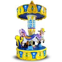 Kids Arcade Horse Racing Game Machine / Baby Toys Coin Operated Carousel Kiddie Rides Manufactures
