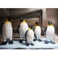China Garden Animal Statues Fiberglass Penguin Sculpture Life - Size Custom Style on sale