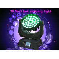DMX RGBW 36 x 10w LED Moving Head Light For Concert / Theatre Stage Lighting Manufactures