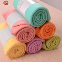 Portable Soft Travel Blanket Solid Color Polar Fleece With belly cards package Manufactures