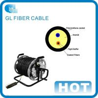 China 4 core single mode outdoor fiber optic cable Tactical optical fiber optic cable on sale